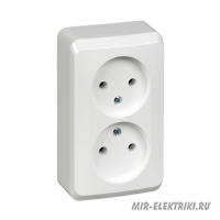 Розетка Schneider Electric Этюд 2-я б/з белая