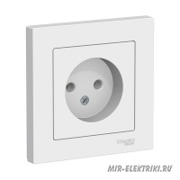 Розетка Schneider Electric AtlasDesign в сборе, б/з, белая